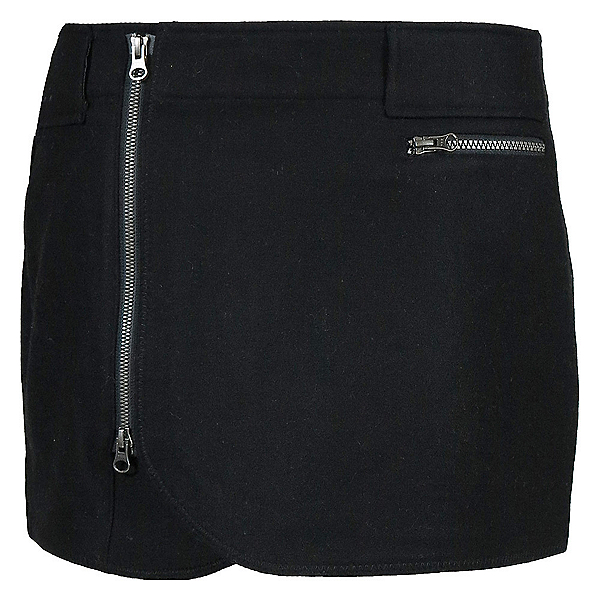 SKHOOP Wool Mini Skirt, Black, 600