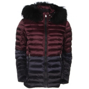 Toni Sailer Margot Splendid Fur Womens Insulated Ski Jacket, Redcurrant, medium