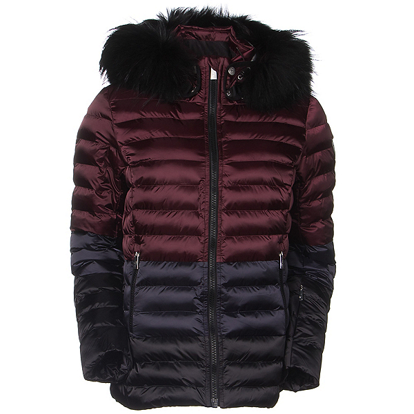 Toni Sailer Margot Splendid Fur Womens Insulated Ski Jacket, Redcurrant, 600
