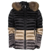 Toni Sailer Margot Splendid Fur Womens Insulated Ski Jacket, Light Sand, medium