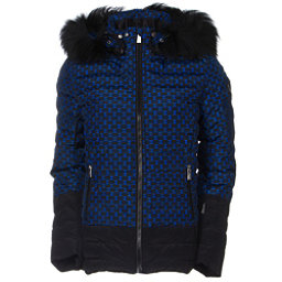 Toni Sailer Margot Print Fur Womens Insulated Ski Jacket, Yves Blue, 256