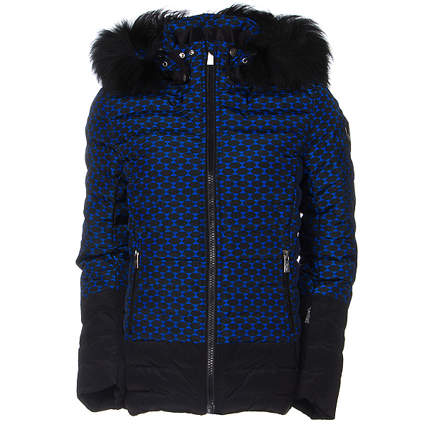 Toni Sailer Margot Print Fur Womens Insulated Ski Jacket, Yves Blue, 600