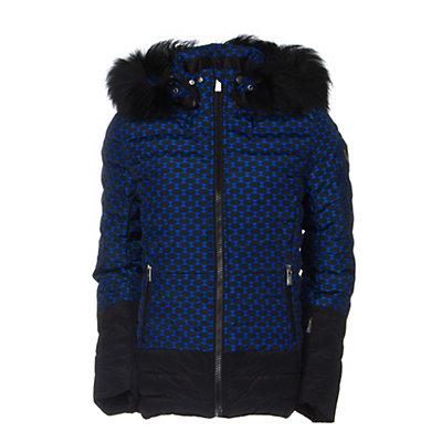 Toni Sailer Margot Print Fur Womens Insulated Ski Jacket, Yves Blue, viewer