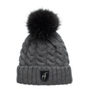 Toni Sailer Casandra Swarovski Fur Womens Hat, Graphite, medium