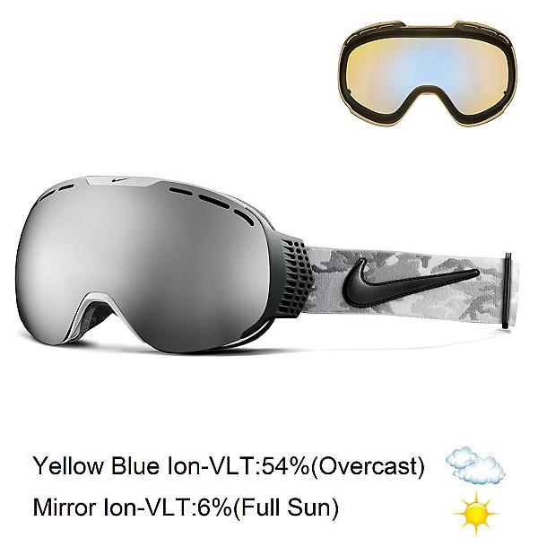 Nike Command Goggles, White Black Anthracite Camo-Mi + Bonus Lens, 600