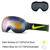 Nike Command Goggles, Black Anthracite Cyber-Yellow + Bonus Lens, medium