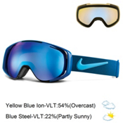 Nike Khyber Goggles, Black Brigade Blue-Tide Pool + Bonus Lens, medium
