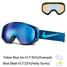 Nike Khyber Goggles, Black Brigade Blue-Tide Pool + Bonus Lens, 256