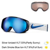 Nike Khyber Goggles 2016, Game Royal White Silver Splatt + Bonus Lens, medium