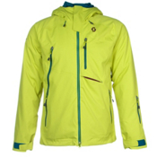 Scott Ultimate Dryo Plus Mens Insulated Ski Jacket, Chartreuse Yellow, medium
