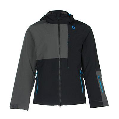 Scott Terrain Dryo Mens Insulated Ski Jacket, Classic Green-Dark Grey, viewer