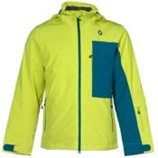 Scott Terrain Dryo Mens Insulated Ski Jacket, Chartreuse Yellow, medium