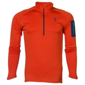 Scott Defined Light Pullover Mens Mid Layer, Tangerine Orange, medium