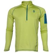 Scott Defined Light Pullover Mens Mid Layer, Chartreuse Yellow, medium