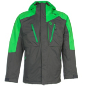 Scott Ultimate Dryo Mens Insulated Ski Jacket, Classic Green-Dark Grey, medium