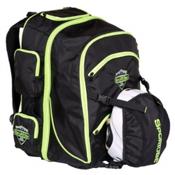 Sportube Overheader Ski Boot Bag, Black-Green, medium