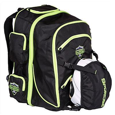 Sportube Overheader Ski Boot Bag, Black-Green, viewer