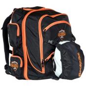 Sportube Overheader Ski Boot Bag, Black-Orange, medium
