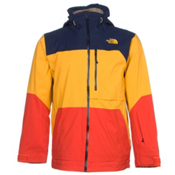 The North Face Sickline Mens Insulated Ski Jacket, Zion Orange-Traverse Yellow-Co, medium