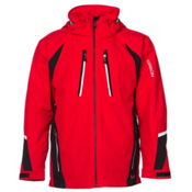 Karbon Chromium Mens Insulated Ski Jacket, Red-Black-Arctic White, medium