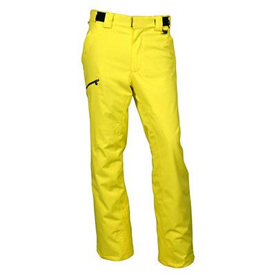 Karbon Silver Pant Trim Mens Ski Pants, Yellow-Black, viewer