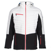 Karbon Thor Mens Insulated Ski Jacket, Black-Arctic White-Red, medium