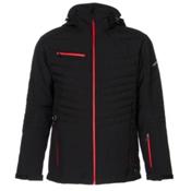 Karbon Thor Mens Insulated Ski Jacket, Black-Black-Red, medium