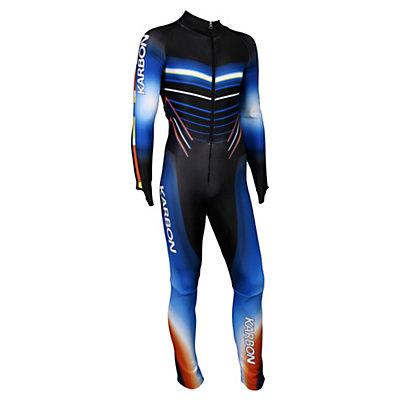 Karbon Pinnacle Junior GS Suit, Navy-Orange-Olympic Blue-Black, viewer