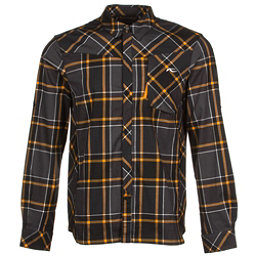 KJUS FRX Mens Flannel Shirt, Black-Orange Pepper, 256