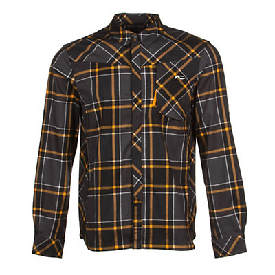 KJUS FRX Mens Flannel Shirt, Black-Orange Pepper, viewer
