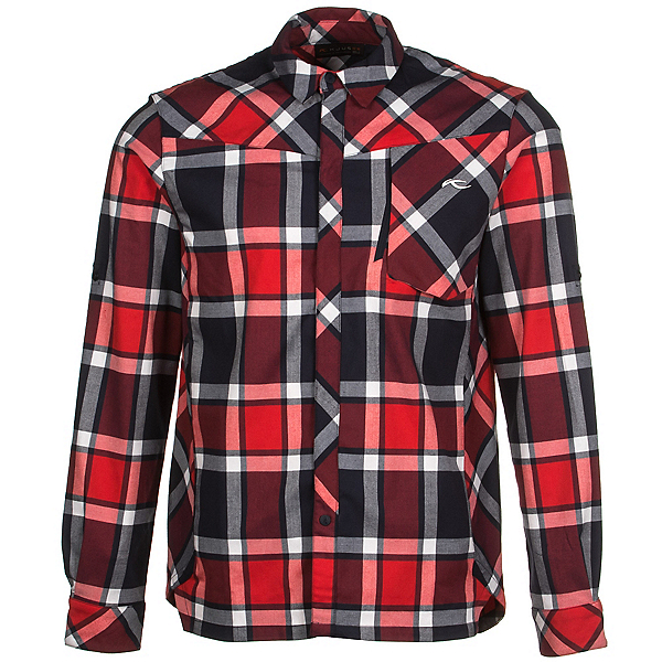 KJUS FRX Mens Flannel Shirt, Atlanta Blue-Scarlet, 600