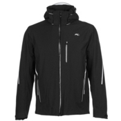 KJUS Formula Mens Insulated Ski Jacket, Black-White, medium