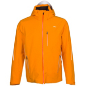 KJUS Formula Mens Insulated Ski Jacket, Orange Pepper-Black, medium