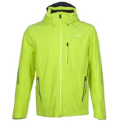 KJUS Formula Mens Insulated Ski Jacket, Wasabi-Atlanta Blue, medium