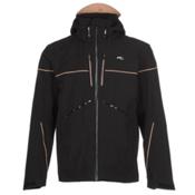 KJUS Speed Reader Mens Insulated Ski Jacket, Black-Orange Pepper, medium