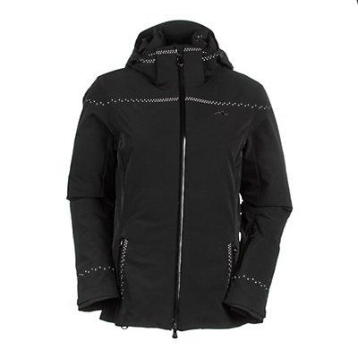 KJUS Light Speed Womens Insulated Ski Jacket, White-Orange Pepper, viewer