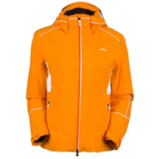 KJUS Formula Womens Insulated Ski Jacket, Orange Pepper-White, medium