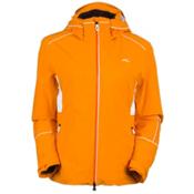 KJUS Formula Womens Insulated Ski Jacket, Orange Pepper-White, medium