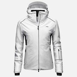 KJUS Formula Womens Insulated Ski Jacket, White-Black, 256