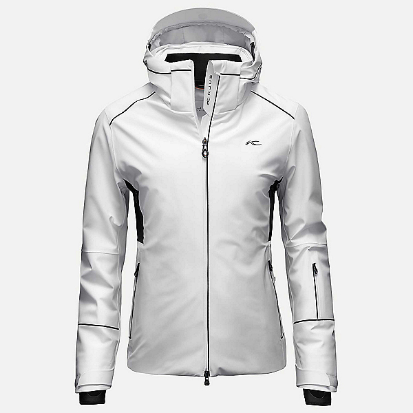 KJUS Formula Womens Insulated Ski Jacket, White-Black, 600