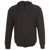 KJUS Vail Jacket Mens Mid Layer, Black Melange-Black, medium