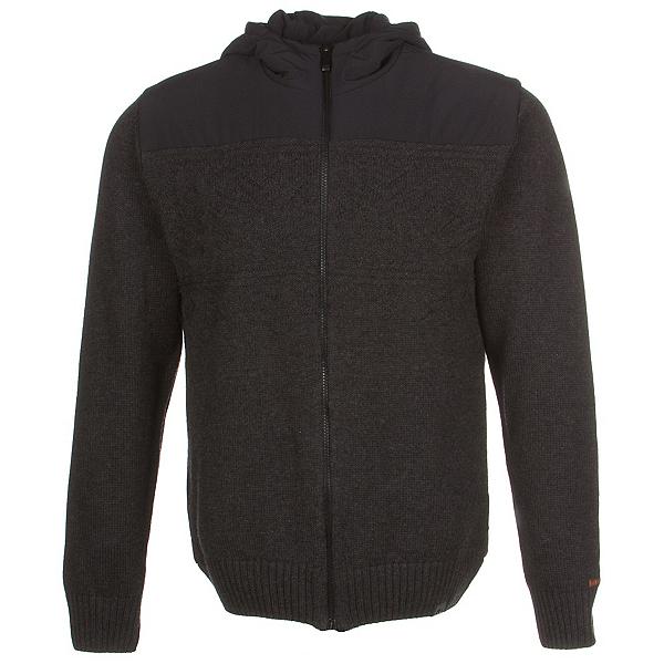 KJUS Vail Jacket Mens Mid Layer, Black Melange-Black, 600