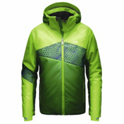 KJUS Digital Boys Ski Jacket, Komi Green-Boa Green, medium
