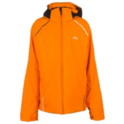 KJUS Formula Boys Ski Jacket, Orange Pepper-Black, medium