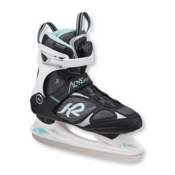 K2 Alexis Boa Womens Figure Ice Skates, Black-Teal, medium