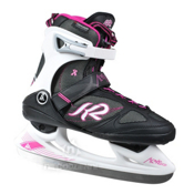 K2 Alexis Ice Pro Womens Figure Ice Skates, Black-Pink, medium