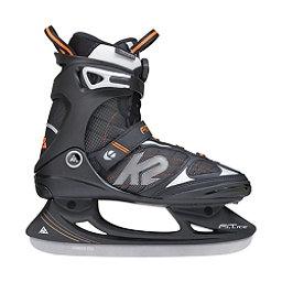 K2 F.I.T. Boa Ice Skates, Black-Orange, 256
