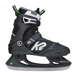 K2 F.I.T. Pro Ice Skates, Black-Green, 256
