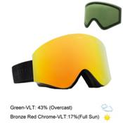 Electric EGX Goggles 2016, Gloss Black-Bronze Red Chrome + Bonus Lens, medium