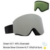 Electric EGX Goggles 2016, Gloss Black-Bronze Silver Chro + Bonus Lens, medium